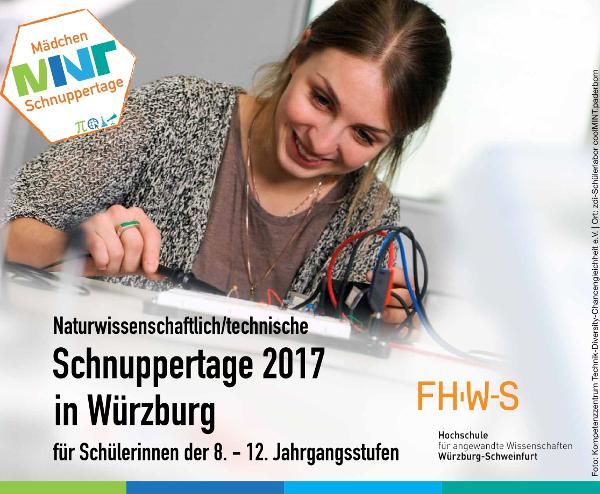 ZAE Bayern, Schnuppetage 2017 Für Mädchen